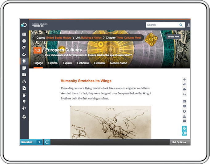 Social studies techbook digital textbooks discovery education engage students like never before fandeluxe Gallery