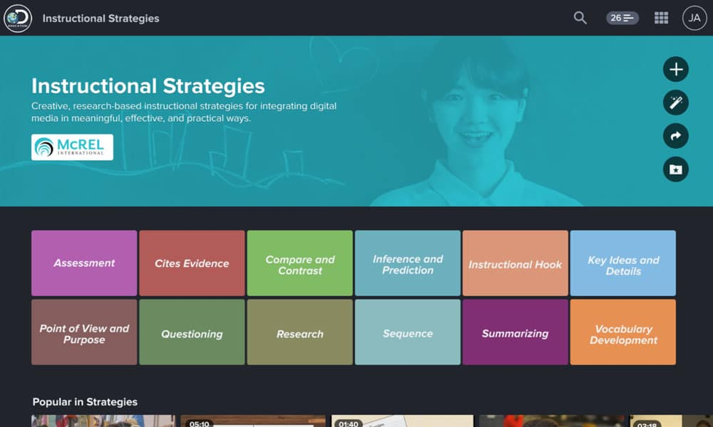 Instructional Teaching Strategies & Educational Content   Discovery